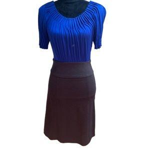 BCBGMaxazria royal blue grey suited dress